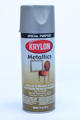 Image of dull aluminum spray paint