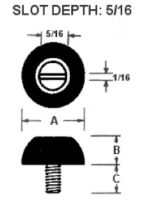 Image of Slotted Machine Screw Bumpers