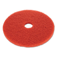 Image of red floor buffing pad